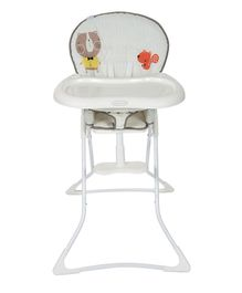 Graco High Chair With Adjustable Feeding Tray Animal Print - Off White