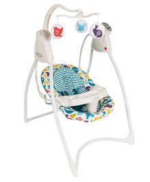 Graco Loving Hug Swing With 6 Speeds - White Green