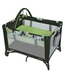 Graco Pack n Play On the Go Playard Bear Trail - Green