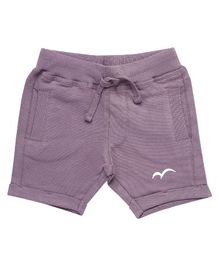 Parrot Crow Solid Printed Shorts - Purple