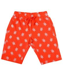 Parrot Crow All Over Fly Printed Shorts - Red
