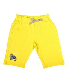 Parrot Crow Turtle Print Shorts - Yellow