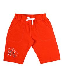 Parrot Crow Star Print Shorts - Red
