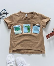 WSD Stamps Printed Tee - Brown