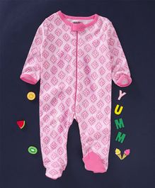 Luvable Friends All Over Print Sleep Suit - Pink