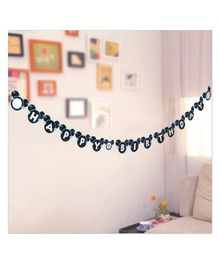 Funcart  Mickey Mouse Happy Birthday Banner - Black