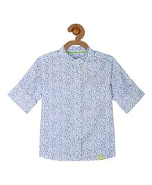Campana Floral Print Shirt - Light Blue