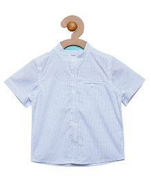 Campana All Over Print Shirt - Light Blue