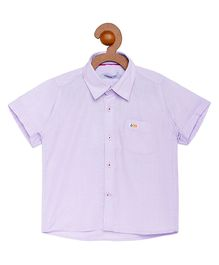 Campana Solid Print Half Sleeves Shirt - Light Purple