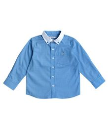 Campana Shirt With Contrast Collar - Blue