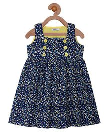 Campana Tiny Flower Print Dress - Navy