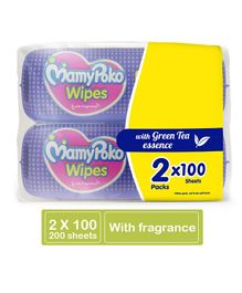 MamyPoko Wipes With Green Tea Essence - 200 Sheets