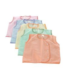 Tinycare Sleeveless Vest - Set Of 5 (Color May Vary)