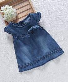 Baby Pep Denim Dress - Blue