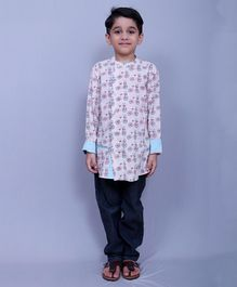 Varsha Showering Trends Full Sleeves Shirt Cycle Print - Light Pink Blue