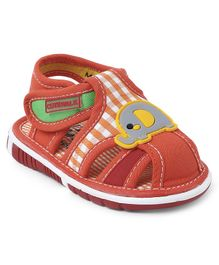 Cute Walk by Babyhug Sandals Elephant Patch - Orange