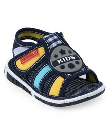 Cute Walk by Babyhug Sandals Checks Print - Navy Blue