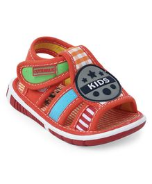 Cute Walk by Babyhug Sandals Checks Print - Orange