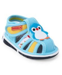 Cute Walk by Babyhug Sandals Penguin Patch - Sky Blue
