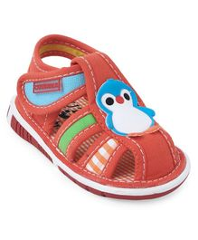 Cute Walk by Babyhug Sandals Penguin Patch - Orange