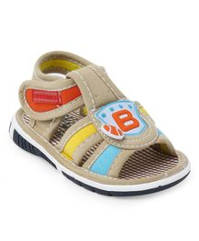 Cute Walk by Babyhug Sandals Alphabet Patch - Light Brown
