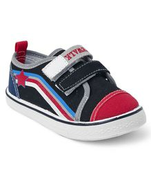 Cute Walk by Babyhug Canvas Shoes - Black & Red