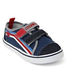 Cute Walk by Babyhug Canvas Shoes - Navy & Black