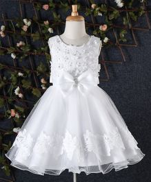 Beautiful Girl Floral Bodice Party Dress - White
