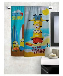 Athom Trendz Minions Theme Bath Towel Pack of 2 - Blue
