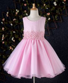 Eudora Pearl Embellished Party Dress - Pink
