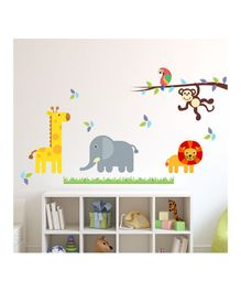 Chipakk Jungle Theme Wall Sticker - Multi Color