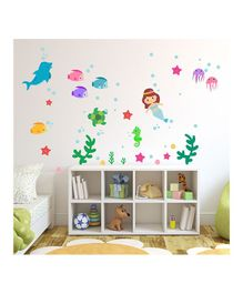Chipakk Aqua Mermaid Theme Wall Sticker - Multi Color