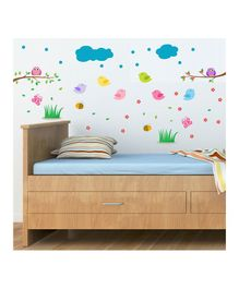Chipakk Cute Bird Theme Wall Sticker - Multi Color