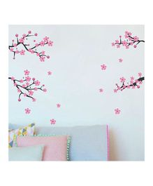 Chippak Floral Theme Wall Sticker - Pink