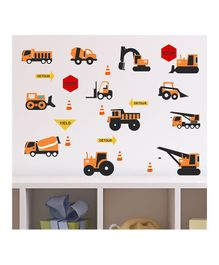Chipakk Construction Vehicle Theme Wall Stickers - Yellow