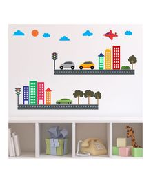Chipakk City Theme Wall Stickers - Multi Color