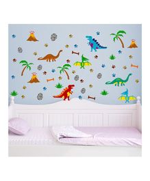 Chipakk Dino Theme Wall Stickers - Multi Color