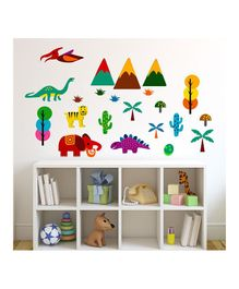 Chipakk Dino & Jungle Theme Wall Stickers - Multi Color