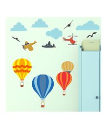 Chipakk Air Balloon Theme Wall Stickers - Multi Color