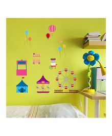Chipakk Circus Theme Wall Stickers - Multi Color