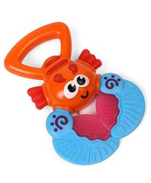 BKids Lobster Rattle & Teether - Orange Blue