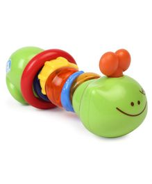 BKids Catty Caterpillar Teether & Rattle - Green