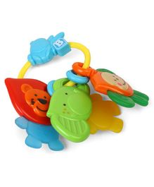 BKids Teething Ring Jungle Safari Pals - Multicolour