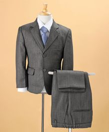 WSD 4 Pc Party Wear Suit with Tie - Blackish Grey