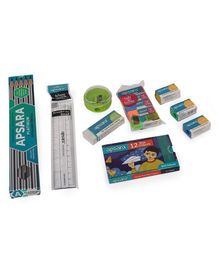 Apsara Scholar's Stationery Kit Multicolour - 23 Pieces