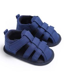 Wow Kiddos Canvas Sandal Style Booties - Dark Blue