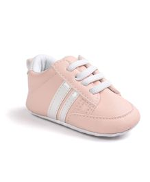 Wow Kiddos Two Striped Booties - Pink