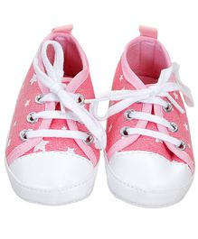 Wow Kiddos Star Print Canvas Shoes - Pink
