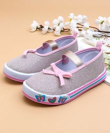 Cute Walk by Babyhug Canvas Shoes Butterfly Design - Pink