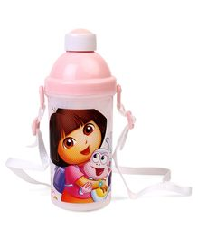 Dora Sipper Bottle With Push Button Pink White - 500 ml